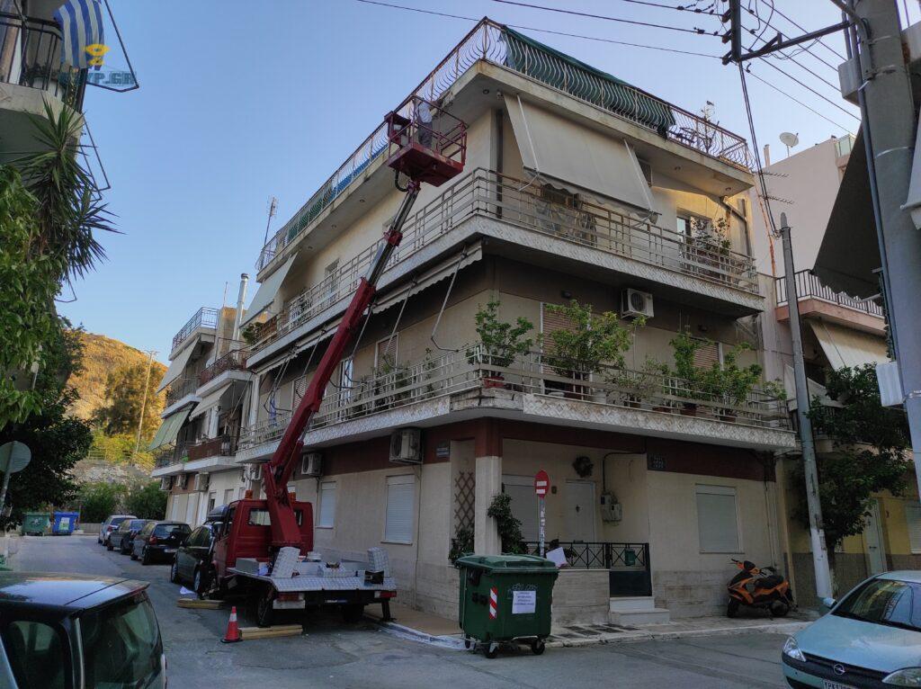 ενοικιάσεις καλαθοφόρων γερανών ενοικίαση καλαθοφόρα καλαθοφόρου γερανού Αθηνα τιμές κοπή κλάδεμα υψηλών δέντρων συνεργείο καθαρισμού ψηλων τζαμιών καθαρισμοι κτιρίων